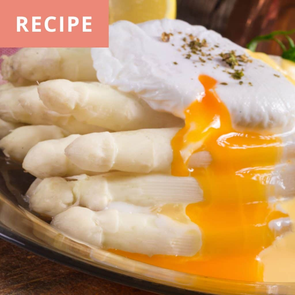 White Asparagus, Poached Egg and Mousseline Sauce